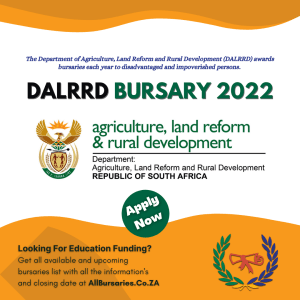 Department of Agriculture, Land Reform and Rural Development Bursary